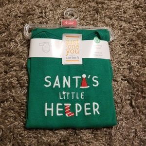 "Carter's ""Santa's Little Helper"" bodysuit"
